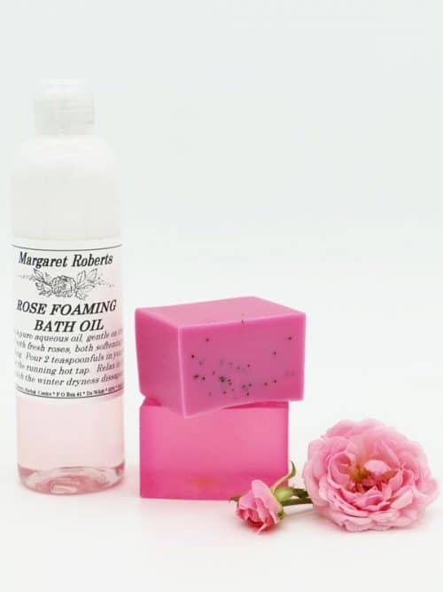 Margaret Roberts Rose Foaming Bath Oil and Soap
