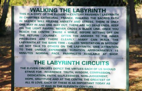 Margaret Roberts Herbal Centre - Labyrinth Sign