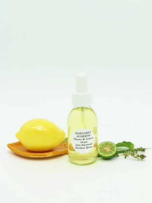 Margaret Roberts Herbal Centre - Lemon grass and thyme kitchen freshner with ceramib lemon soap dish and lemon soap