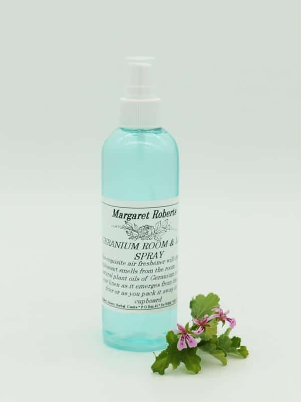 Margaret Roberts Herbal Centre - Rose Scented Geranium Room and Linen Spray