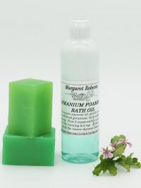 Rose Scented Geranium Foaming Bath Oil and Soap
